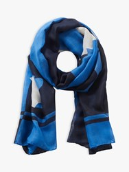 Betty Barclay Abstract Print Scarf Blue Multi