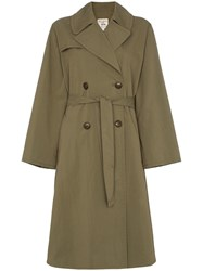 Nili Lotan Belted Trench Coat Green
