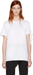 J.W.Anderson White Single Knot T Shirt