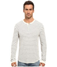 Lucky Brand Lived In Stripe Henley Oatmeal Men's Clothing Brown
