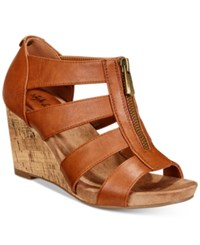 Styleandco. Style Co Fettee Platform Wedge Sandals Created For Macy's Women's Shoes Coffee