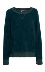 Cynthia Rowley Angora Wool Sweater Green