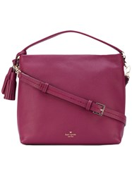 Kate Spade Tassel Detail Tote Women Leather Polyester One Size Pink Purple