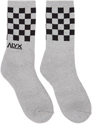 Alyx Grey Modello B Checkerboard Socks