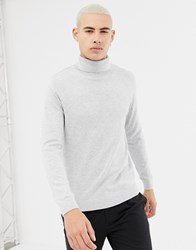 New Look Roll Neck Jumper In Light Grey Light Grey