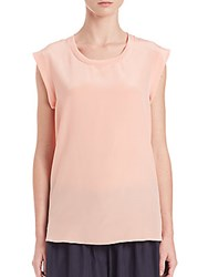 3.1 Phillip Lim Silk Muscle Tee Peachy