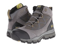 Timberland Rockscape Mid Steel Safety Toe Grey Suede Yellow Pops Women's Lace Up Boots Gray