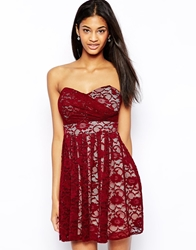Tfnc Lace Prom Dress Burgundynude