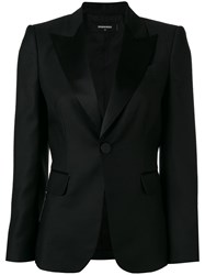 Dsquared2 Peaked Lapel Blazer Black