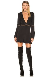 For Love And Lemons Lilou Romper Black