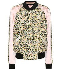 Coach Printed Bomber Jacket Multicoloured