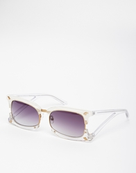 Prabal Gurung Double Clubmaster Sunglasses Texturalwhite