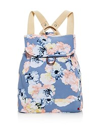 State Hattie Floral Backpack Floral Gray Silver
