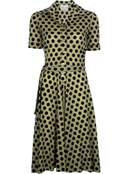 Ken Scott Vintage Polka Dot Dress Green