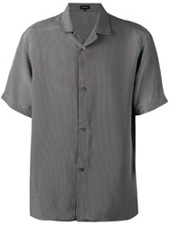 Jil Sander Check Short Sleeved Shirt Men Viscose 40 Grey