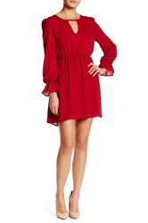 Vanity Room Cinched Waist Woven Dress Petite Red