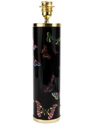 Fornasetti Butterfly Print Lamp Base Unisex Brass Metal Other One Size Black