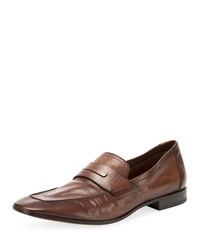 Berluti Incrociato Leather Loafers Brown