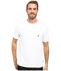 Nautica Short Sleeve Solid Anchor Pocket Tee Bright White Men's T Shirt