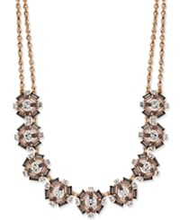 Charter Club Rose Gold Tone Crystal Necklace Only At Macy's
