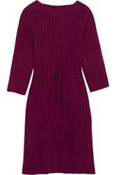 See By Chloe Crochet Knit Dress Plum
