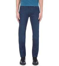 Ted Baker Straight Cut Tapered Stretch Denim Jeans Rinse Denim