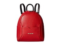 Love Moschino Detachable Pocket Backpack Red Black Backpack Bags