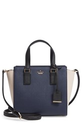 Kate Spade New York Cameron Street Small Hayden Leather Satchel Blue Blazer Blue Tusk Black