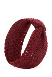Forever 21 Bow Knit Headwrap Burgundy