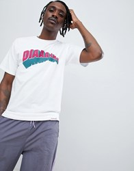 Diamond Supply Co. All Day T Shirt With Arch Logo In White