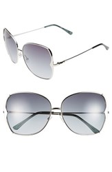 Women's Bcbgmaxazria 63Mm Butterfly Sunglasses Chrome
