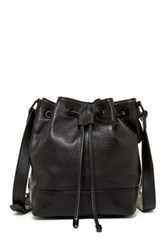 L.A.M.B. Haddie Leather Bucket Bag Black