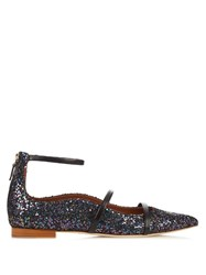 Malone Souliers Robyn Point Toe Glitter Flats Black Multi