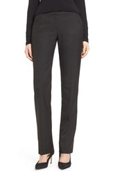 Halogenr Petite Women's Halogen 'Taylor Ela' Straight Leg Suit Pants Heather Charcoal