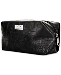 Nyx Black Croc Embossed Cosmetic Bag No Color