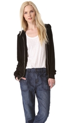Wildfox Couture Basic Zip Hoodie Jet Black
