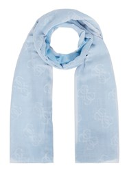 Guess Two Tone Long Scarf Blue