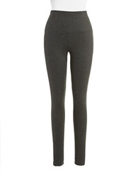 Lysse Ponte Tights With Center Seam Charcoal