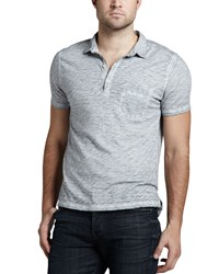 7 For All Mankind Burnout Slub Polo Cloud