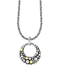 Effy Sterling Silver And 18K Yellow Goldplated Diamond Pendant Necklace