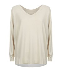 Malo V Neck Reversible Jumper Female Neutral