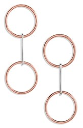 J.Crew Demi Fine Double Circle Earrings Mixed Metal
