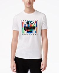 Armani Exchange Men's Graphic Print T Shirt White