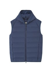 Mango Men's Quilted Lightweight Feather Gilet Navy