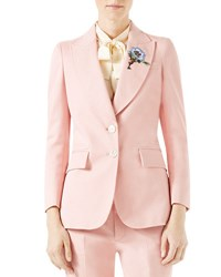 Gucci Ottoman Cotton Stretch Jacket With Flower Patch Petal
