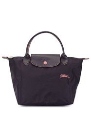 Longchamp Top Handle Tote Purple