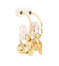Ellery Chess Warped Collage Earrings Gold