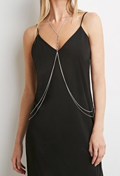 Forever 21 Feather Charm Body Chain B.Silver