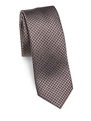 Pal Zileri Pattered Silk Tie Burgundy