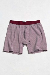 Urban Outfitters Feeder Stripe Boxer Brief Maroon